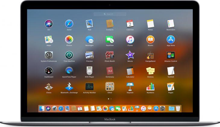 صورة لتطبيقات MacOS