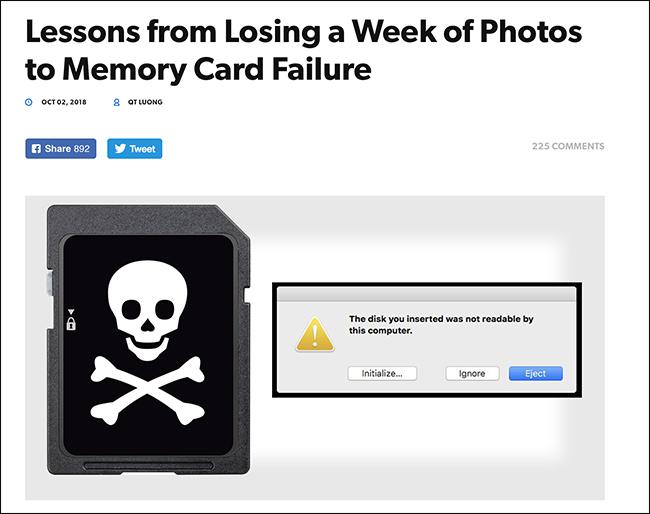 فشل بطاقة الذاكرة