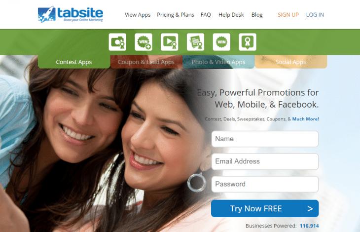 الصفحة الرئيسية ل tabsite