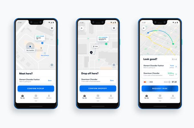 طلب السيارات عبر تطبيق Waymo One